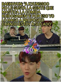 Read from the story Memes de EXO by Escarfia (Infires man! Exo Memes, Blackpink Memes, Bts Memes Hilarious, Chanbaek, Kaisoo, Kyungsoo, Exo 12, How To Cure Anxiety, Vkook Fanart
