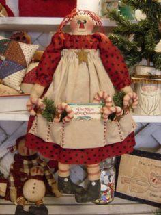 Kandy Kane Raggedy Ann Doll Pattern 21 $6.00