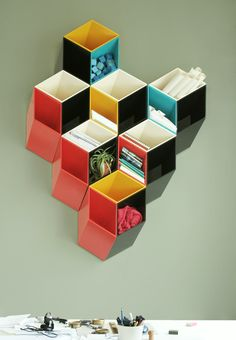 Optical illusion shelving by Bjorn Blikstad