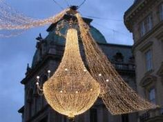 Twinkle lights...in a chandelier (go big or go home!)
