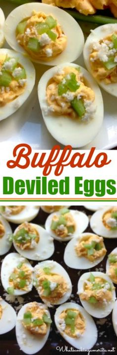 Give your deviled eggs a spicy, tangy twist with our Buffalo Deviled Eggs recipe. Enjoy as an appetizer or a side dish for any potluck or holiday gathering. Easy Appetizer Recipes, Best Appetizers, Easy Snacks, Healthy Snacks, Party Appetizers, Egg Recipes, Side Dish Recipes, Snack Recipes, Cooking Recipes