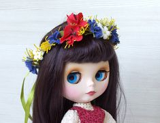 Blythe flower crown dolls headband foam floral crown Eva