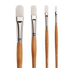 Save On Discount Utrecht Series 300 Acrylic Brush Set of 4 Synthetic Filbert art brushes & More Acrylic Brush Set at Utrecht set includes 10, 8, 4, 2