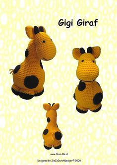Gigi Giraffe and other crocheted toys for babies - all free patterns! On mooglyblog.com