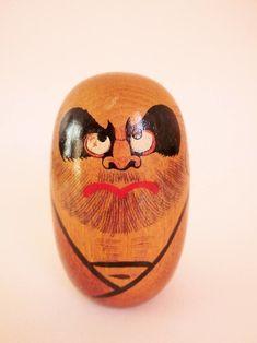 Daruma in wood - Japanese lucky charm
