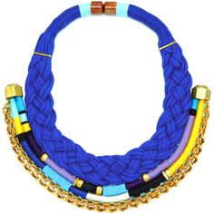 Holst Lee Blue Knight Necklace ❤ liked on Polyvore