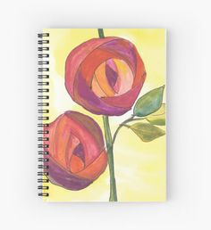 Art Deco Roses Spiral Notebook by Ailan Olsen