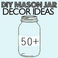 DIY crafts/50 DIY Mason Jar Decor Ideas - MikeLike