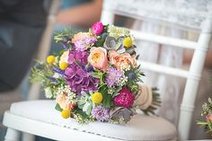 An Elegant Country Wedding at Rookery Hall. Bright wedding bouquet.   Image by Mr Sleeve.  Read more: http://bridesupnorth.com/2016/11/21/summer-bloom-an-elegant-country-wedding-at-rookery-hall-charlotte-tom/  #wedding #flowers