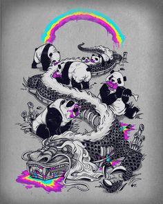 PANDAS MAKE RAINBOWS BLEED