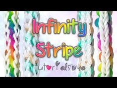 Monster Tail Infinity Stripe Bracelet (reversible).  Designed and loomed by TutorialsByA. Click photo for YouTube tutorial. 05/06/14.