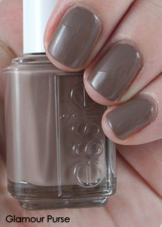 """New favorite nail color - Essie """"Glamour Purse"""" - Boyfriend calls it """"Chocolate pudding hands"""" (they don't understand...)"""