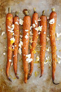 Roasted Heirloom Carrots with Feta, Truffle and Lemon Zest – my FAVORITE way to enjoy roasted carrots!