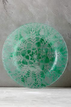 S Frosted Green Glass Dinner Sets