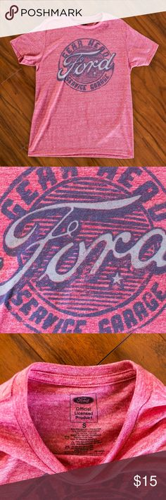 Ford Motors Gear Head Service Garage T-Shirt Condition: 8/10 (Measurements upon request!)  Ships same or next day via USPS Priority Mail from sunny Orlando, FL :)  Please Note these are ACTUAL PHOTOS of the product listed.   Reasonable offers are warmly welcomed & your purchase is greatly appreciated!   Poshmark Ambassador   4.9 Top Rated Seller   Top 10% Seller   Top 10% Sharer Ford Shirts Tees - Short Sleeve