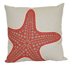 Bring the ocean to your home with this cute starfish throw pillow.