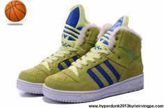 Buy Discount Adidas X Jeremy Scott Big Tongue Anti Fur Winter Shoes Yellow Basketball Shoes Store