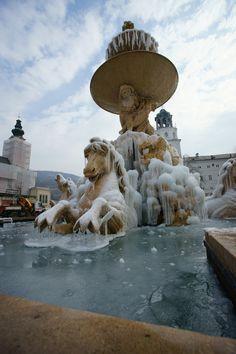 Salzburg, Residenzbrunnen, Austria