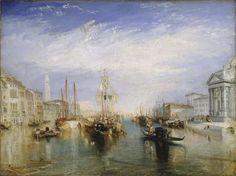 """Joseph Mallord William Turner, """"Venecia desde el pórtico de Santa María della Salute"""", (1835)."""