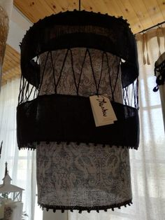 The elaborate Masha lampshade, made of Busatti fabric.