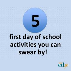 5 first day of school activities you can swear by Ryan Thomas