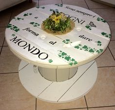 Sitting room Wire spool table