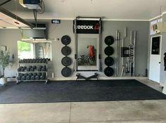 Home Gym Basement, Home Gym Garage, Diy Home Gym, Gym Room At Home, Home Gym Decor, Best Home Gym, Home Office, Crossfit Garage Gym, Basement Stairs