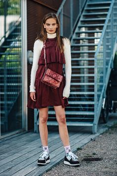 Our street chic photographer captures the most stylish attendees out for the shows at Copenhagen Fashion Week