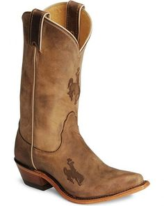 Nocona Wyoming Cowboys College Boots - Snip Toe