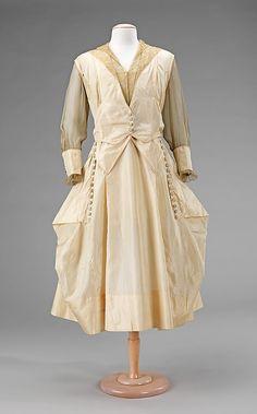 Silk Evening Dress, 1915-1917, American.