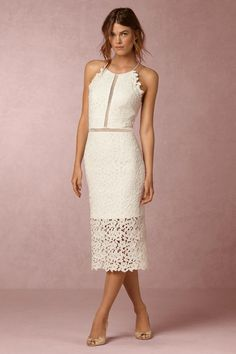lace little white dress | Tulip Dress from BHLDN