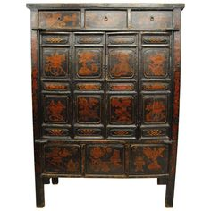 Antique Large Chinese Armoire with Original Lacquer, Shanxi Province, Early 1800 1