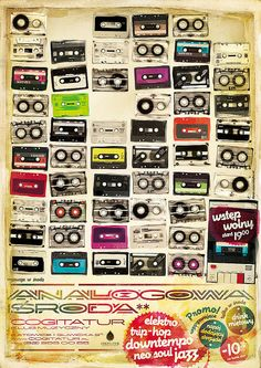 Great poster. I kinda miss cassette tapes. Kinda. #poster #art #music
