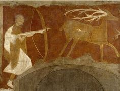 Fresco depicting a Hunting Scene, possibly 1129–34, Made in Castile-León, Spain.