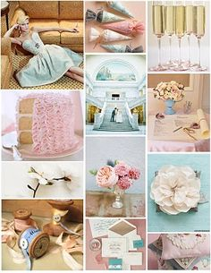 #Inspiration #Board: Pink and Blue and Gold Tinsel