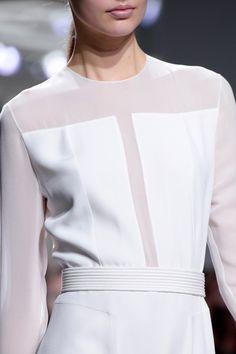 White panelled dress; chic fashion details // Boss Women Fall 2014