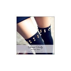 Studded Long Socks ($6.56) ❤ liked on Polyvore featuring intimates, hosiery, socks, tights, women, thigh-high socks, cotton socks and long socks