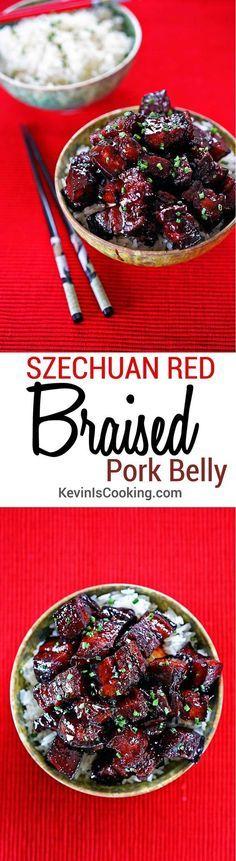 Szechuan Red Braised Pork Belly. www.keviniscooking.com