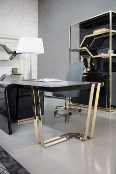 95 modern office decorating ideas with inspiring furniture to add style and functionality to your workplace - Bestplitka Inc Office Table Design, Office Furniture Design, Office Interior Design, Office Interiors, Office Designs, Modern Office Desk, Home Office Decor, Home Decor, Office Workspace