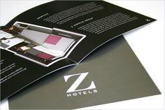 Z hotels brochure design