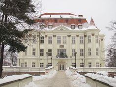 Leśnicy Palace (Wrocław) in winter, Lower Silesian Voivodeship, Poland