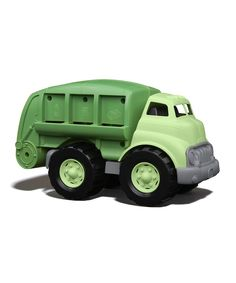 Green Toys Recycled Recycling Truck...this looks so much better than the yellow and red trucks you usually see