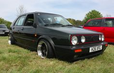 Beautiful slammed Volkswagen Mk2 Golf GTi (5 door whore) at BHP Performance Show 2014