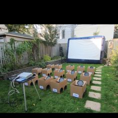 Fun birthday party idea!!! Or class reward idea! Drive in Movie. Reminds me of my days as a beehive/miamaid!