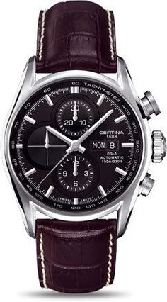 Certina Watch DS-1 Chrono Automatic #bezel-fixed #bracelet-strap-leather #brand-certina #case-material-steel #case-width-43mm #chronograph-yes #date-yes #day-yes #delivery-timescale-7-10-days #dial-colour-black #gender-mens #luxury #movement-automatic #official-stockist-for-certina-watches #packaging-certina-watch-packaging #style-sports #subcat-ds-1 #supplier-model-no-c006-414-16-051-00 #warranty-certina-official-2-year-guarantee #water-resistant-100m