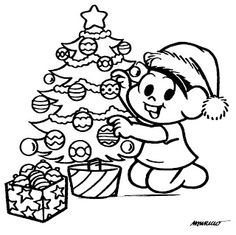 Pedagógiccos: Desenhos de Natal com a Turma da Mônica - parte 1