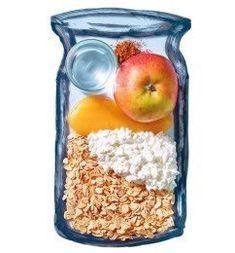 Healthy and good for the figure: the oatmeal breakfast - Frühstück/Party - Best Smoothie Recipes Smoothie Recipes Oatmeal, Smoothie Proteine, Breakfast Smoothies, Diet Breakfast, Healthy Smoothies, Apple Breakfast, Brunch Recipes, Baby Food Recipes, Healthy Recipes