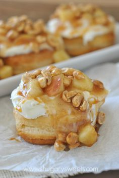 Apple Pie Doughnuts: Easy gourmet doughnuts made in 30 minutes. #Pillsbury grands doughnut #gourdoughs