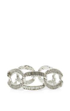 Pave Crystal Chain Link Bracelet by OSCAR DE LA RENTA for Preorder on Moda Operandi