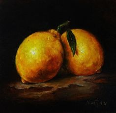 Lemons #lemons#art#oil painting http://ninaraide.com/blog/98537/lemons